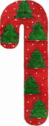 Melissa Shirley Designs | Hand Painted Needlepoint | Christmas Tree Candy Cane