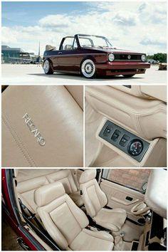 Volkswagen Golf Rabbit Cabrio lu en consol o Vw Golf Cabrio, Volkswagen Golf Mk1, Golf 1 Cabriolet, Golf Mk2, Vw Mk1 Rabbit, Convertible, Vw Classic, Vw Cars, Dream Cars