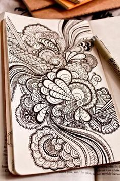 Zentangle ideas for large scale doodles! by Gatto Samir