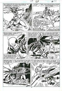Avengers #288 p.24 - Thor & Namor, Dr. Druid, Black Knight & Machine Man! by Buscema Comic Art