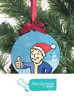 "Fallout Vault Boy Aluminum 3"" x 3.37"" Christmas Tree Holiday Ornament - Personalize from Pretty Little Tragic http://www.amazon.com/dp/B017AT2768/ref=hnd_sw_r_pi_dp_J6Prwb0P1596M #handmadeatamazon"
