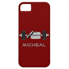 Bodybuilding Sport Athlete Personlized Lifter Red iPhone 5 Case
