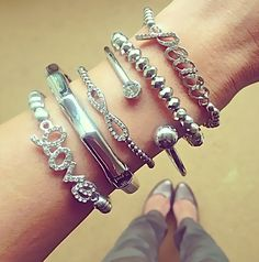 Bamboo Silver Stack Set $14 {only one left} www.popofchic.com