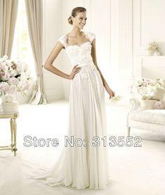 Elie Saab Wedding Dress 2013 Galant Lace Open Back Eight  Piece Design A Line Chiffon Bridal Gown