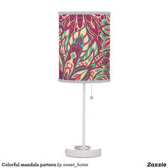 Colorful mandala pattern table lamp #Home #decor #Room #Interior #decorating #Idea #Styles #Traditional #Boho #Indian #Vintage #floral #motif
