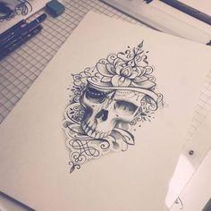 """239 Likes, 7 Comments - Sanni Voutilainen (@sanni_ink) on Instagram: """"Viikonlopputöitä :) #skulltattoo #skull #dotwork #mandala #mandaladesing #mandalatattoo…"""""""
