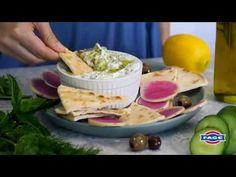Simple Tzatziki Dip with Fage. Potluck Recipes, Vegetarian Recipes Easy, Summer Recipes, New Recipes, Cooking Recipes, Favorite Recipes, Healthy Recipes, Appetizer Salads, Appetizer Recipes