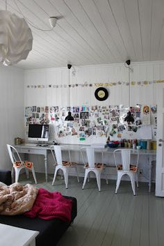 Worke With Inspiration Board Kids Study Es Rooms White Craft Room