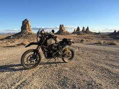 SC3 Adventure with 5 gallon XLPE tank developed with IMS Products at the Trona Pinnacles, California  Carducci Dual Sport
