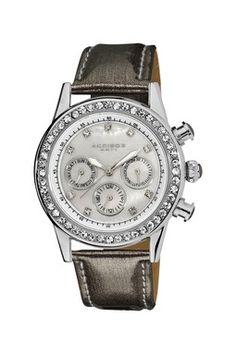 Akribos XXIV Women's Multifunction Dazzling Strap Watch