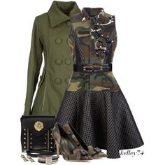 """Fashionista Fatigues"" by kelley74 on Polyvore"