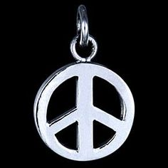 Silver pendant, peace Silver pendant, Ag 925/1000. Peace symbol. Diameter approx. 15mm.