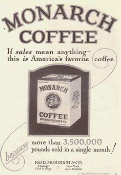 Monarch Coffee Vintage Adv.