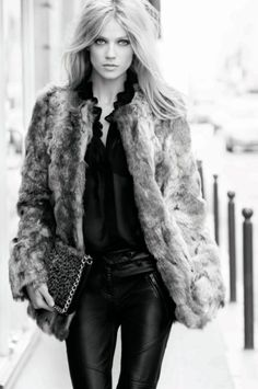 luxe fur coat