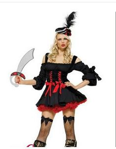 Sexy Costumes Deluxe Sexy Pirate Costumes Adult Women Caribbean Pirate Costume Halloween Carnival Cosplay Fancy Dress With Hat Sufficient Supply Women's Costumes