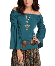 Look what I found on #zulily! Gemstone Crepe Giselle Top #zulilyfinds