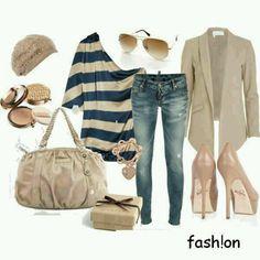 Awesome casual, yet stylish outfit Fashion Moda, Look Fashion, Urban Fashion, Autumn Fashion, Fashion Outfits, Womens Fashion, Fashion Trends, Fashion Ideas, Fashion Inspiration