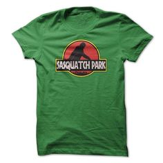 Sasquatch Park Jurassic Parody Bigfoot T Shirts, Hoodies. Get it now ==► https://www.sunfrog.com/Funny/Sasquatch-Park-Jurassic-Parody-Bigfoot-T-Shirt.html?57074 $19