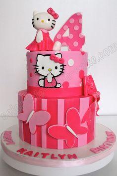 Hello Kitty Cake ~ adorable!  Mimi