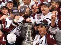 Four of the worlds best in one picture. Epic. Ray Bourque, Joe Sakic, Peter Forsberg, Patrick Roy
