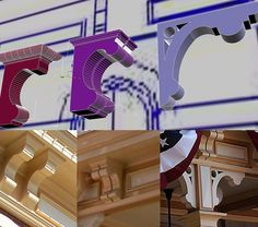 #disneyland in #3d update: -- This particular Main Street building has three different corbels; one unique and two very similar to each other. They change as the building grows in height. The more details you add to your models the more levels of shadow and interest show through in a render. -- http://ift.tt/1G95kUE -- #disney #waltdisney #anaheim #mainstreet #cityhall #themepark #3dmodel #3dprinting by modelingdisney