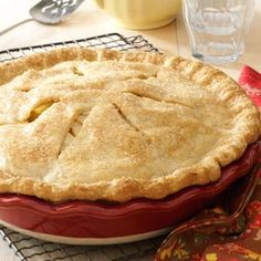 "Apple Pear Pie Recipe- Recipes This fruit pie, brimming with apples and pears, really says ""fall."" What a yummy way to use your backyard bounty or the pickings from local orchards! I've made plenty of pies over the years, and this is a real standout. Pear Recipes, Fall Recipes, Holiday Recipes, Recipes With Pears, Fall Desserts, Delicious Desserts, Yummy Food, Apple Pear Pie, Apple Pies"