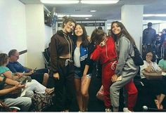 Kels, Sahar, and Mads with a fan