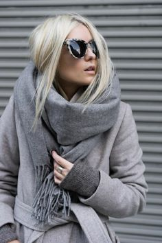 porter un foulard d'hiver idée facile et originale