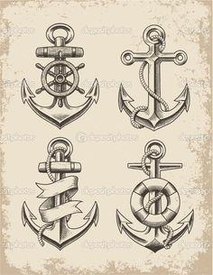 Hand Drawn Anchor Set Hand Drawn Anchor Set — Vector by m.j.h1nkle