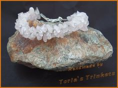Rose quartz twisted kumihimo bracelet with 925 sterling silver pl | Toria's Trinkets: necklaces, rings, bracelets and so much more