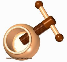 Rounded wooden nut cracker plan