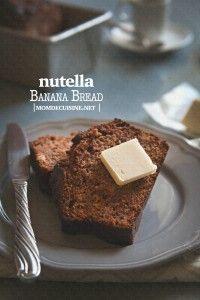 Nutella Banana Bread via MomDeCuisine// #nutella #banana #bread