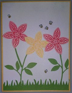 Stampin up's triple treat flower