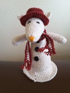 HaakZe: Sneeuwpopmuis Christmas Knitting, Xmas, Teddy Bear, Sweet, Projects, Mice, Animals, November, Keychain Hook