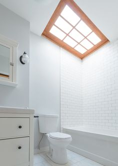 Bathroom and skylight