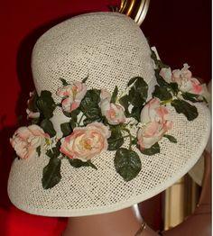 Ladies Tea Party Hats   ... Hat Church Hat Tea Garden Party Bonnet Flapper Hat Natural Straw