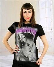 Universal Pictures - Ladies Purple Bride of Frankenstein T-Shirt