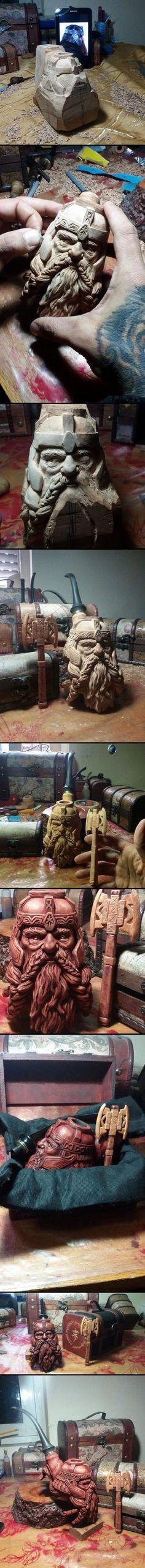Gimli smoking pipe...the progress .: