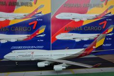 ASIANA AIRLINES Boeing 747-400  BBOX 1:200