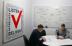 Check out our brand new meeting room, complete with a giant canvas of our company Values. Learn more about how 'we mould around you'. Company Values, Customer Appreciation, Customer Experience, How To Be Outgoing, Teamwork, Communication, Learning, Check