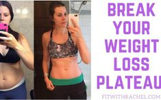 How To Break a Weight Loss Plateau: 3 Tips to Bust a Weight Loss Plateau! Repin and grab my free meal plan that helped me lose 80 pounds!