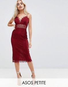 Browse online for the newest ASOS PETITE Lace Cami Midi Pencil Dress styles. Shop easier with ASOS' multiple payments and return options (Ts&Cs apply). Petite Outfits, Petite Dresses, Formal Dresses, Petite Clothes, Asos Lace Dress, Lace Dresses, Asos Petite, Going Out Dresses, Mode Online