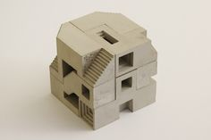 Modular sculpture inspired by the Soma Cube geometry