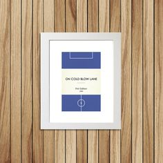 Book Clubs Millwall A4 Football Print in blue by TommySauce, £9.50