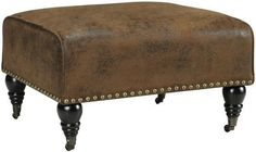 Lauren Ottoman Complete Your Living Room with the Plush Comfort of This Upholstered Ottoman Item # 01440 $199