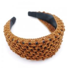 BROWN KNITTED HAIR BAND