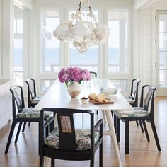 Classic Color Duo - Beach House Dining Rooms - Coastal Living