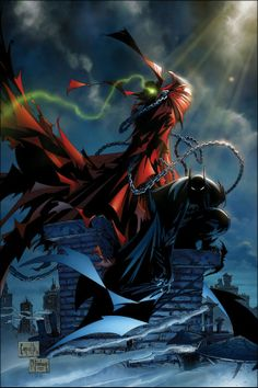 Batman and Spawn | OMG !! I love it so much ! <3