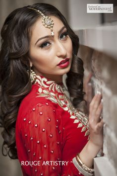 Indian Bridal Hair & Make-up - more inspiration @ http://www.ModernRani.com
