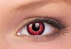 Red coloured contact lenses